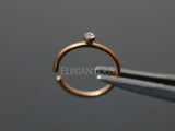 Rose Gold Annealed Hoop Piercing, 20 Gauge Nose / Cartilage Piercing Rings