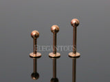 Rose Gold Ball Head Labret / Monroe / Lip / Cartilage / Tragus Stud