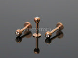 Rose Gold Crystal Ball Labret / Monroe / Lip / Cartilage / Tragus Stud