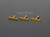 2x12mm Gold Bar Labret Stud Lip Monroe Tragus Bar, Internally Threaded Cartilage Stud | Barre Dorée 2x12mm Labret Stud Lèvre Monroe Tragus Cartilage, Filetage Interne