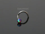 Purple Opal Nose Screw, 20G Opal Nose Stud Ring