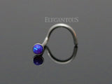 Dark Purple Opal Nose Screw, 20G Opal Nose Stud Ring