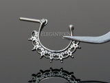 Lace Tribal Fan Septum / Daith Clicker Piercing Ring