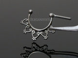 Open Heart Filigree Septum / Daith Clicker Ring