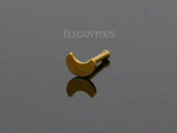 Gold Moon Nose Stud Ring, 20G Crescent Nose Bone