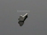 Silver Heart Nose Stud Ring, 20G Love Nose Pin