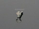 Silver Cross L Bend Nose Stud, 20g Nose Ring