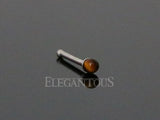 Semi Precious Stone Nose Stud, 925 Sterling Silver Nose Bone