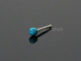 Turquoise Ball Nose Stud, 925 Sterling Silver Nose Bone