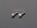 Set of Two Colors Pearl Nose Stud, White and Pink Pearl Nose Bone