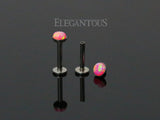 Pink Opal Press Fit Tragus Forward Helix Labret Monroe Lip Cartilage Bar Stud