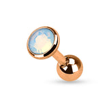 Rose Gold Plated Opalite Cartilage / Helix / Tragus / Earring