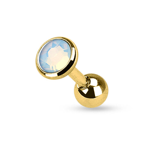 Gold Plated Opalite Cartilage / Helix / Tragus / Earring