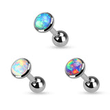 20% OFF, Set Of Three Colors Opal Cartilage / Helix / Tragus / Barbell | REMISE DE 20%, Pack de 3 couleurs Opale Cartilage / Helix / Tragus / Barbell