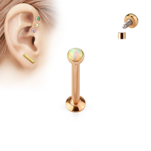 8mm Rose Gold Tragus Forward Helix Labret Monroe Lip Cartilage Bar Stud | Piercing Monroe Labret Levre Cartilage Barre Or Rose 8mm