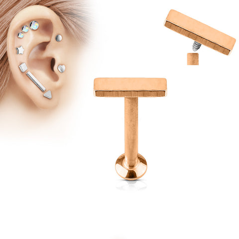 2x6mm Bar Labret Stud Lip Monroe Tragus Bar, Internally Threaded Cartilage Bar | Barre 2x6mm Labret Stud Lèvre Monroe Tragus Cartilage, Filetage Interne