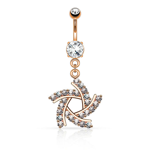 Rose Gold Windmill Belly Button Ring