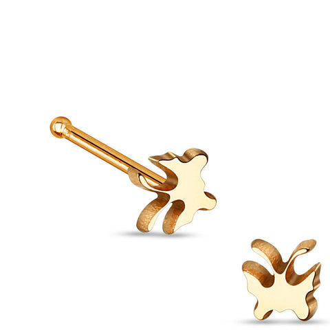 Rose Gold Butterfly 316L Surgical Steel Nose Studs