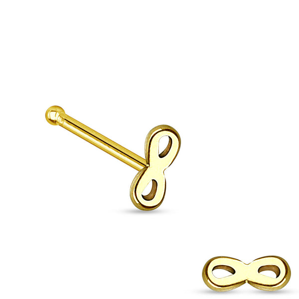Gold Infinity Nose Bone, 20G Infinity Nose Stud