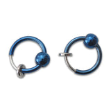 Fake Blue Nose, Lip, Ear Hoop, Steel Spring Action
