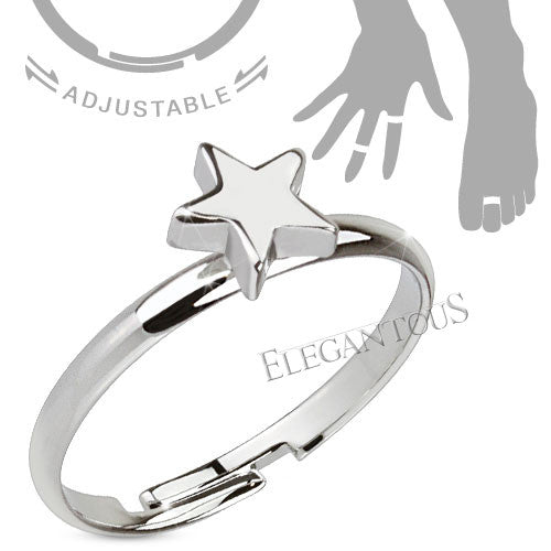Petite Star Adjustable Midi Ring / Toe Ring