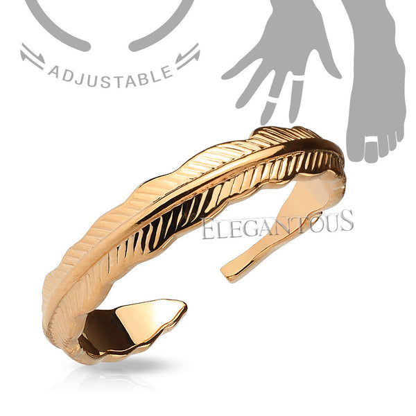 Double Braided Rose Gold Midi Ring / Toe Ring