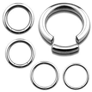 Septum / Daith / Cartilage / Tragus Hinged Seamless Hoop Ring