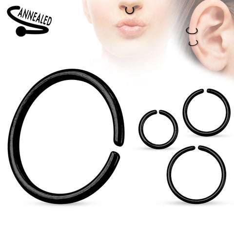All Sizes, Black Bendable Nose / Ear / Lip Ring