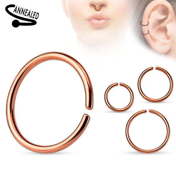 All Sizes - Rose Gold Bendable Nose / Ear / Lip Ring