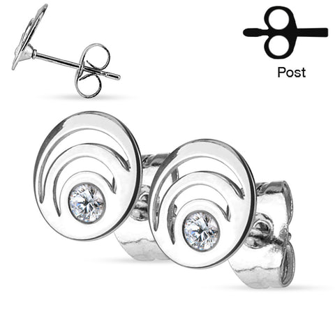 Silver Triple Loop Ear Stud