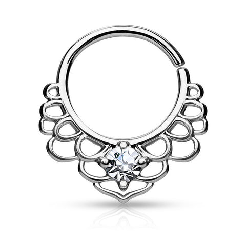 Silver Bendable Lotus Septum / Daith Piercing
