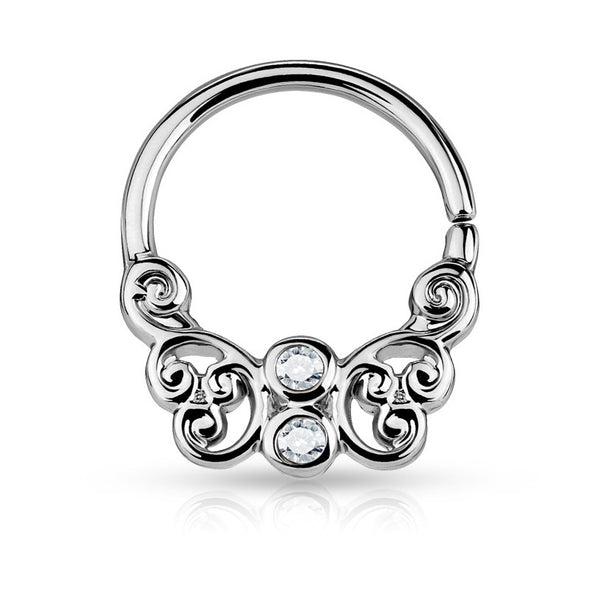 Silver Bendable Butterfly Septum / Daith / Cartilage Piercing