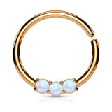 Rose Gold Septum / Cartilage / Daith / Tragus Piercing, Bendable Opal Septum Ring