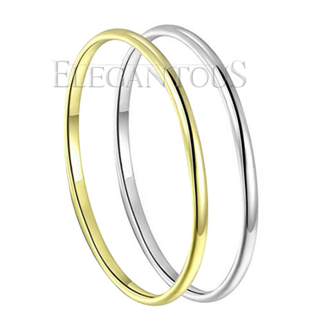 Simple Stakable Slim Ring, Silver / Gold Plated Ring