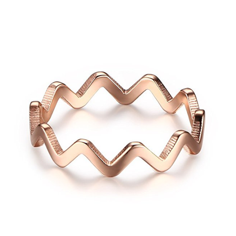 Three Colors Wave Shaped Ring