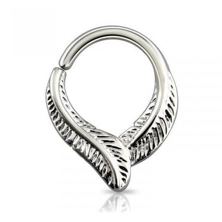 Silver Bendable Feather Septum / Daith Piercing
