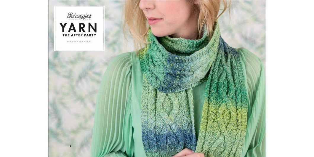 YARN The After Party No. 12 - Mossy Cabled Scarf By Carmen Jorissen