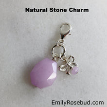 Silver Charm with Purple Gemstone