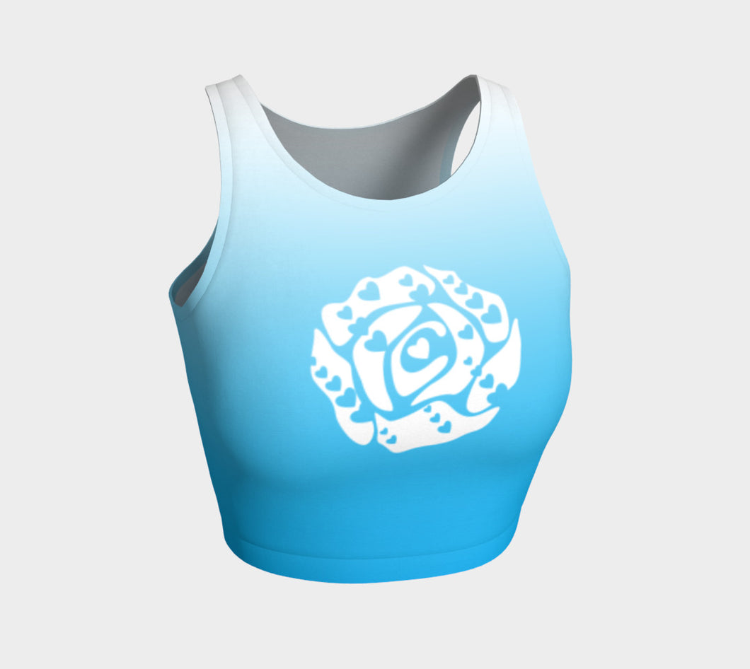 Athletic Crop Top Light Blue