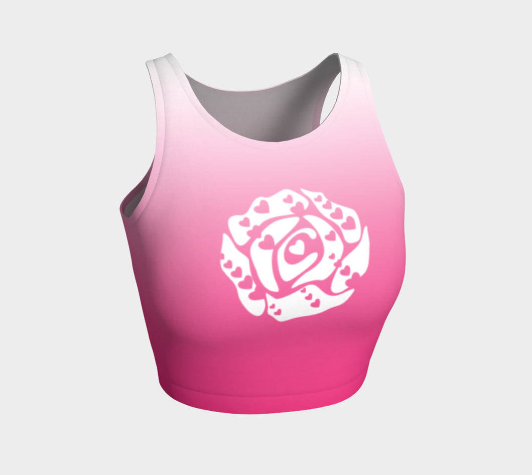 Athletic Crop Top Hot Pink