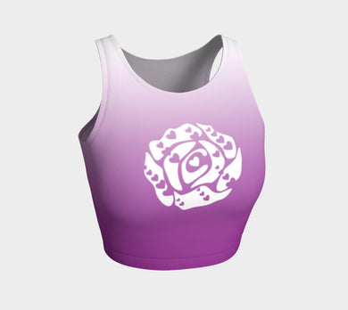 Athletic Crop Top Purple