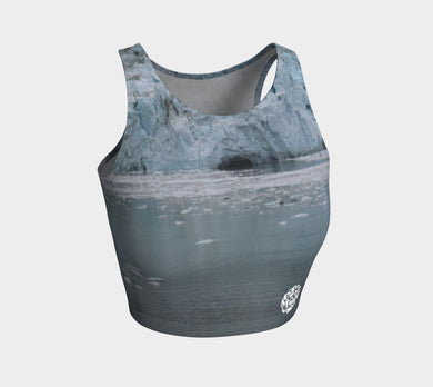 Athletic Crop Top Glacier Bay 2