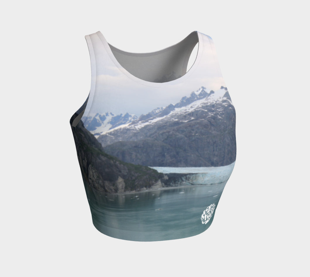 Athletic Crop Top Glacier Bay 3