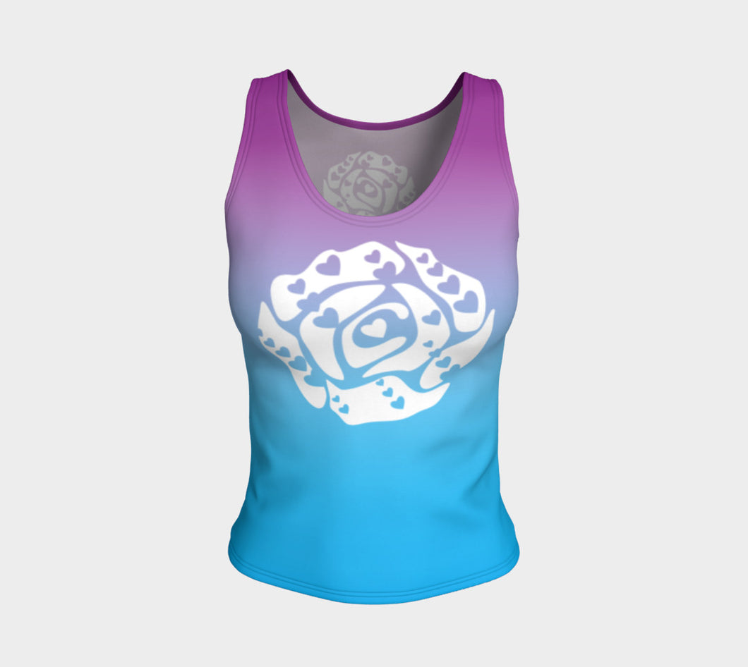 Fitted Tank Top Purple and Light Blue 3