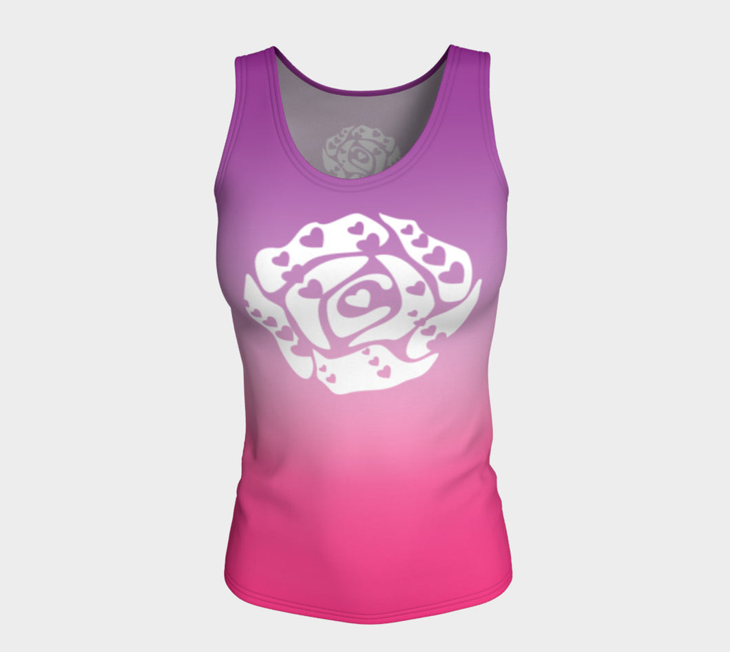Fitted Tank Top Purple and Hot Pink 2