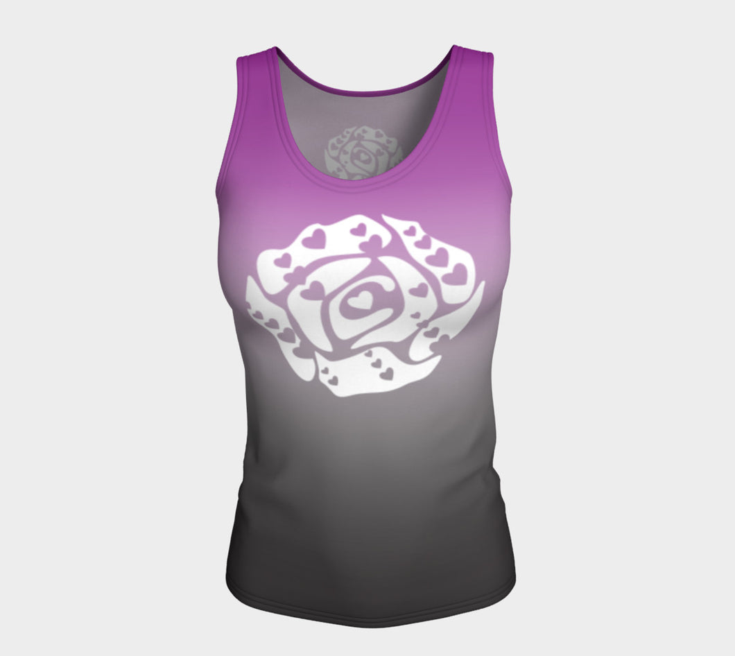 Fitted Tank Top Purple and Black