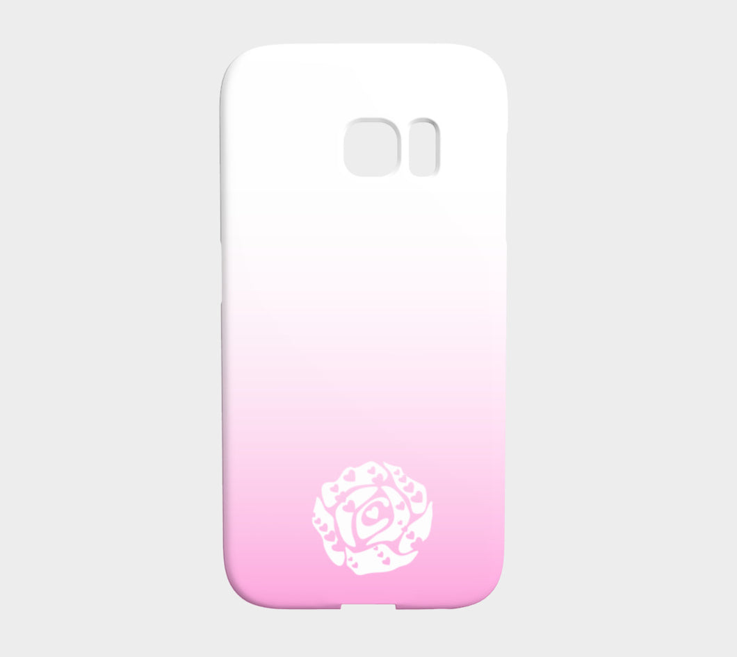 Galaxy S7 Edge Phone Case by Emily Rosebud Light Pink