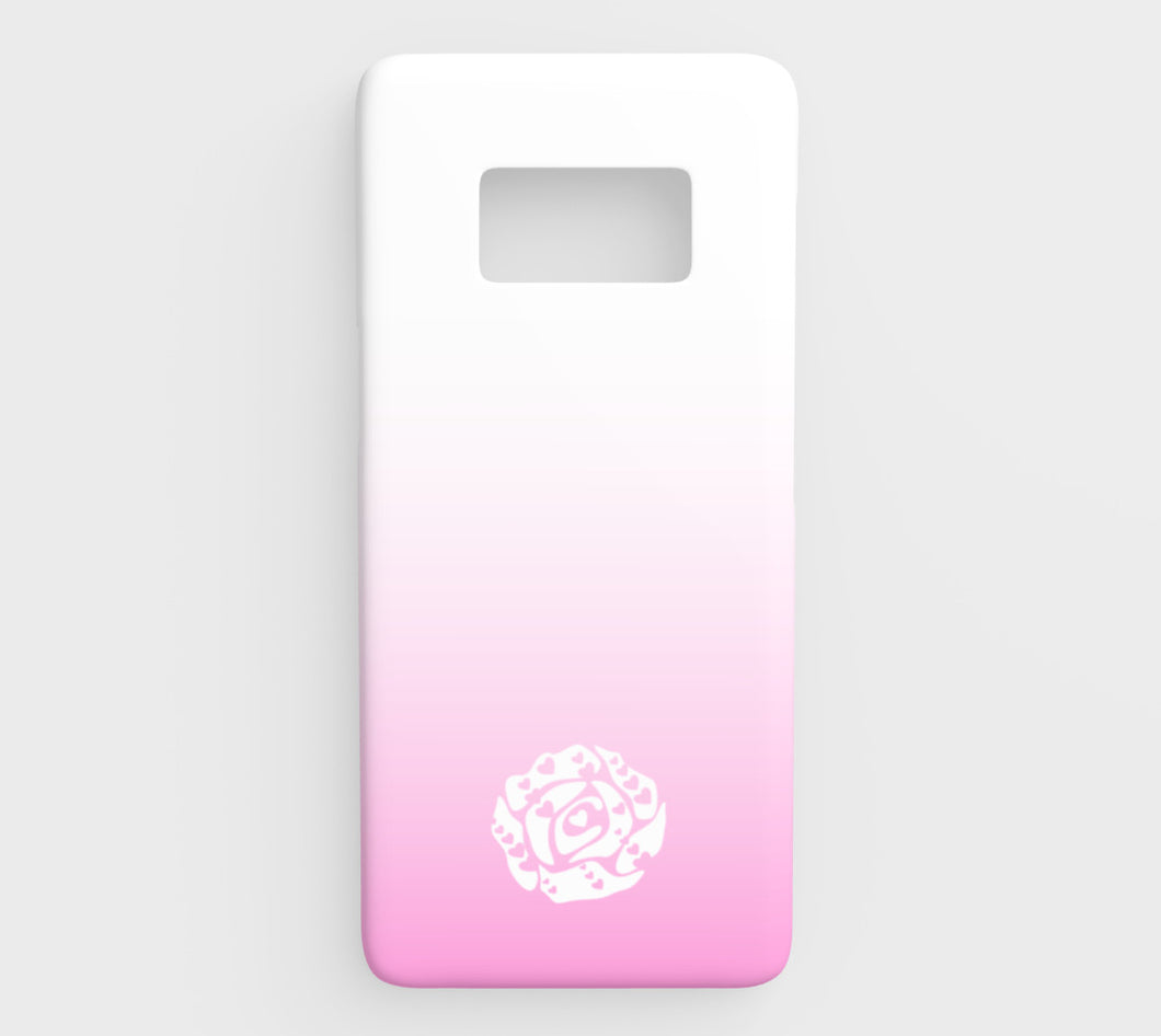 Galaxy S8 Phone Case by Emily Rosebud Light Pink