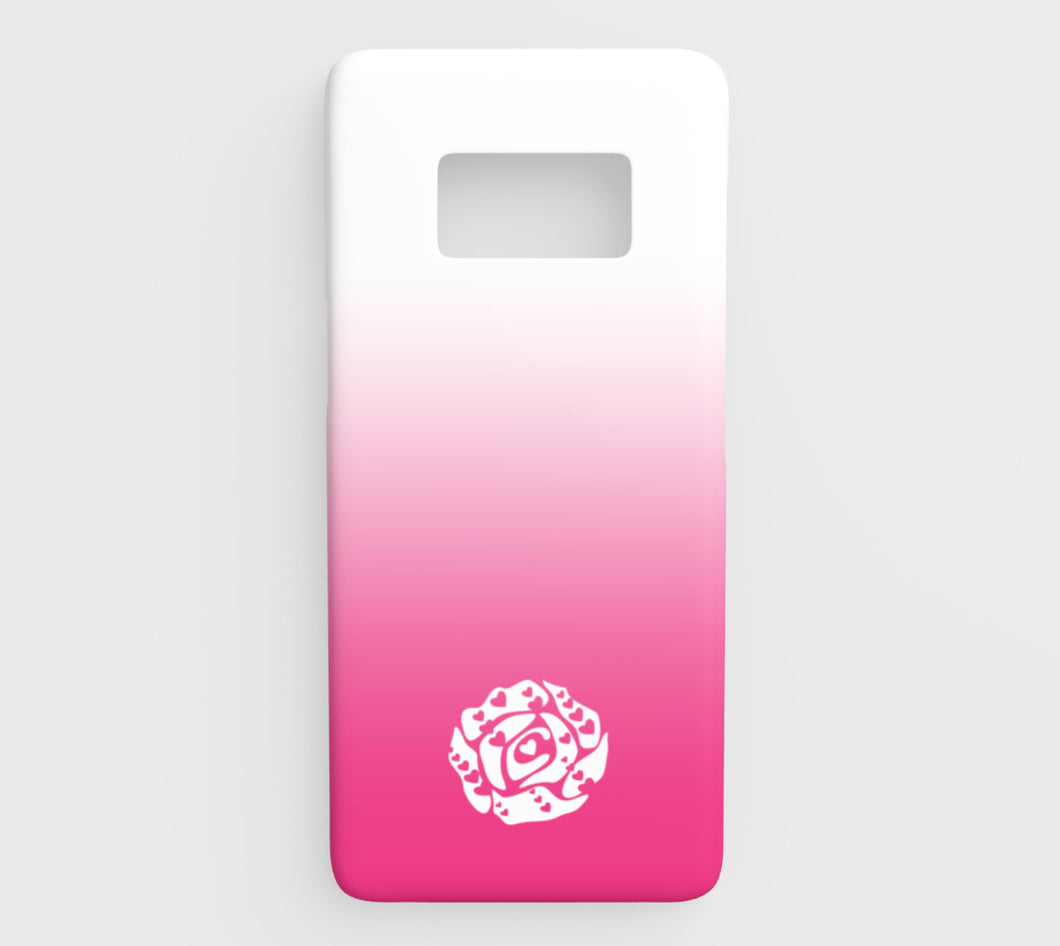 Galaxy S8 Phone Case by Emily Rosebud Hot Pink