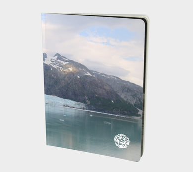 Large Notebook by Emily Rosebud Glacier Bay 3